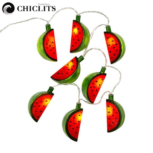 chiclits watermelon string light holiday party lights luces decorativas led beach halloween christmas light battery light
