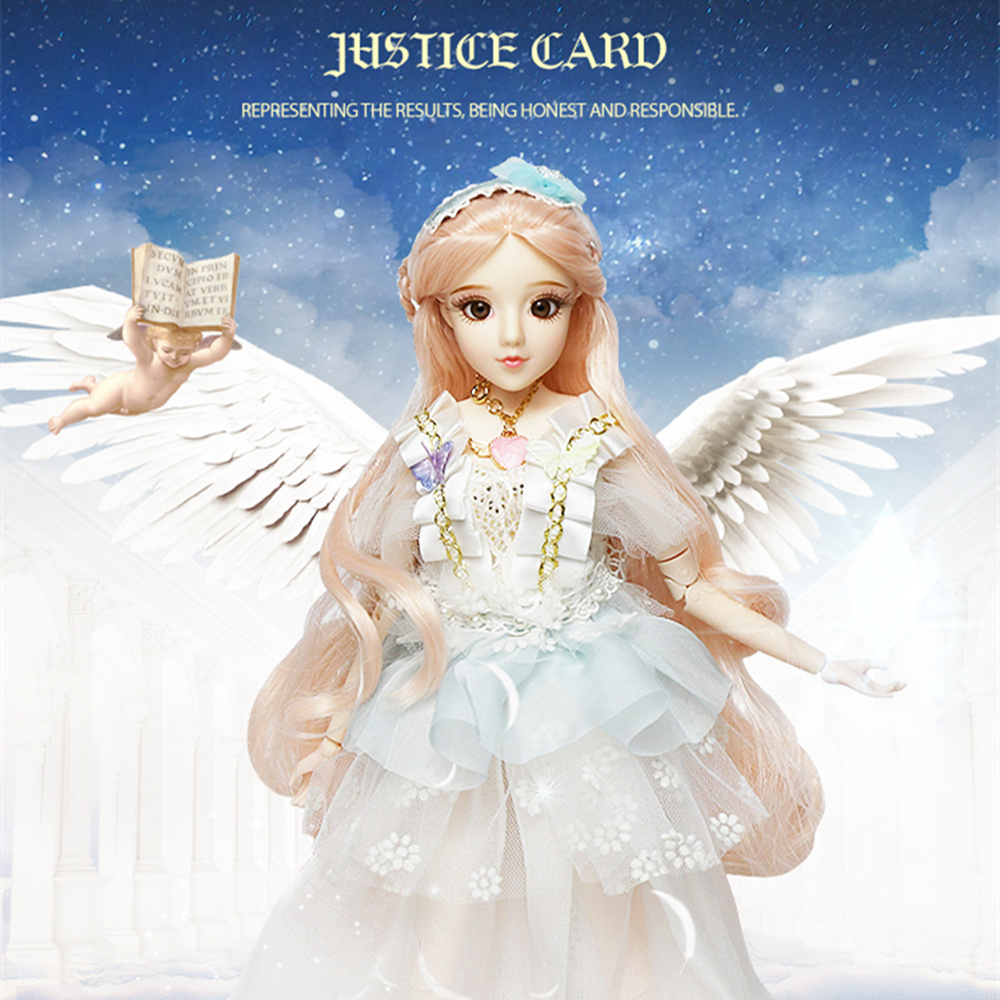 Dream Fairy MMG BJD doll Tarot series The Justice with clothes shoes legging mask stand 14