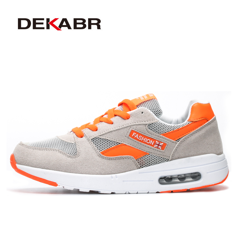 DEKABR Brand 2018 New Women Running Shoes  Breathable Women Air Cushion Shoes Lace-Up Sneakers Quality Women Sport Running Shoes keloch new men casual shoes fly weave mesh breathable lace up air cushion sport basket flat shoes lovers trainers zapatos mujer