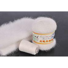 50 grammi per persona di Alta qualità di visone morbido di lana a mano a maglia di lusso lungo di lana di cachemire Crochet lavorato a maglia filato adatto per lautunno