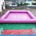 Inflatable biggors rosa cor inflável piscina segura para a festa de meninas
