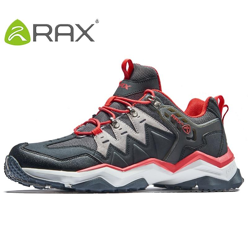 RAX 2018 Mens Waterproof Hiking Shoes Men Outdoor Trekking Walking Shoes Outdoor Sports Sneakers Men Large Size Hiking Boots Men rax 2015 mens outdoor hiking shoes breathable mesh suede trekking shoes men genuine leather sneakers size 39 44 hs25