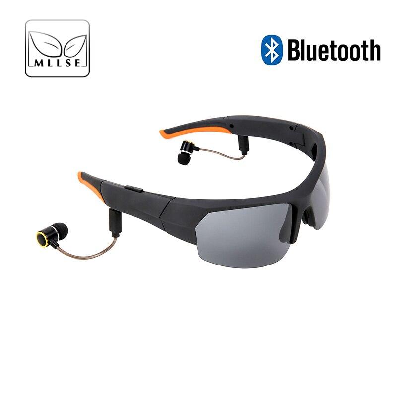 MLLSE Bluetooth sport lunettes de soleil pour hommes femmes lunettes de plein air avec casque microphone lunettes de soleil appels MP3 lunettes