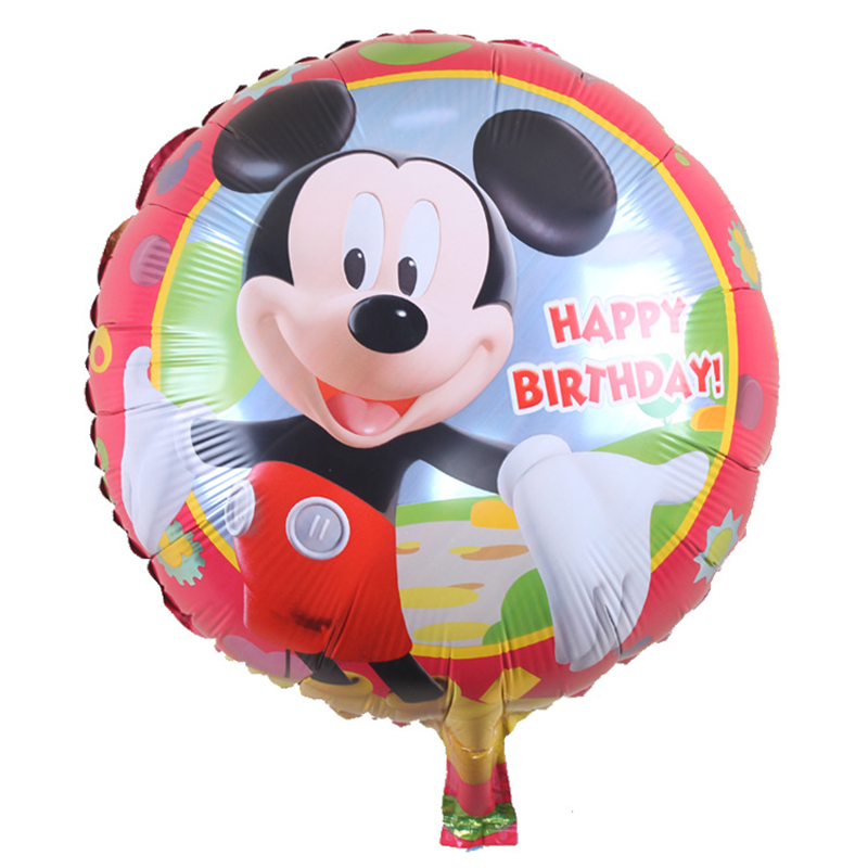 50pcs/lots Free shipping childrens toys Mickey Minnie Mouse birthday party balloons decorated and furnished balloons Wholesale