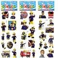 6 шт./лот Пожарный Сэм Мультфильм Стикер 3D Пузырь Наклейки DIY Наклейки Малыш Игрушка в Подарок