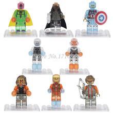 Clearance Marvel Super Hero Figures D854 Single Sale Avengers Iron Man Vision Crystal Building Blocks Sets
