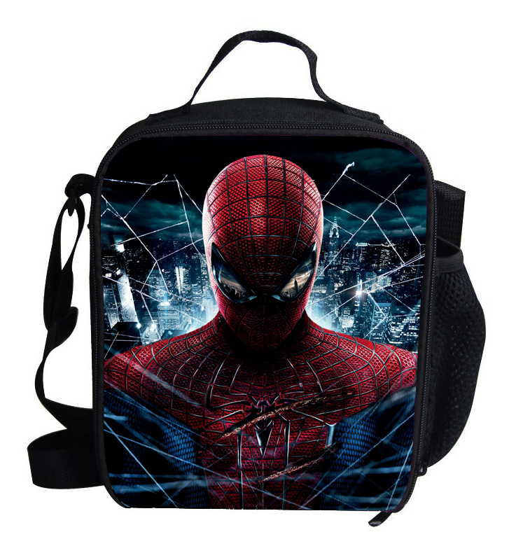 2017 Popular Character Lunch Bag For Kids Spiderman Lunch Bag For Boys Personalized Insulated Lunch Bag Thermal Cooler Children