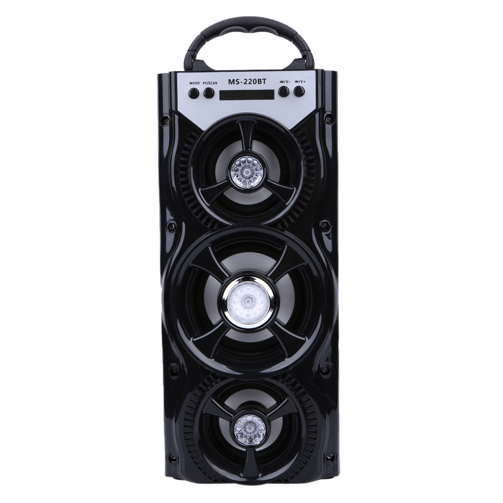MS-220BT Mobile Multimedia Super Bass Bluetooth Speaker Portable Indoor Outdoor Wireless Speakers with USB/TF/AUX/FM Radio