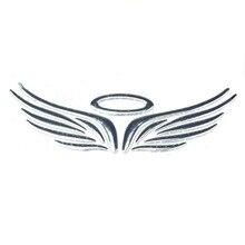 Забавная 3D Автомобильная наклейка в виде крыла ангела, мягкий ПВХ хромированный значок, эмблема, наклейка, водонепроницаемая автомобильная эмблема, наклейка для автомобиля, мотоцикла, J05