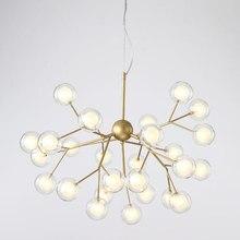 Современное светодиодное стекло подвесной светильник Nordic обеденная Кухня Свет Романтический Светлячок висит лампы для мотоциклов Avize блеск освещение