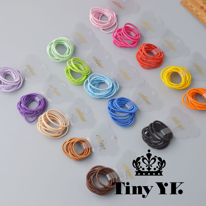 10pcs/set  Solid Elastic Hair Bands  Mini Rubber Band Hair Rope Ponytail Holder For Kids Girl Hair Accessories