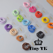 10Pcs zestaw stałe elastyczne opaski do włosów mini guma Opaska do włosów lina ponytail Holder dla dzieci dziewczyna Akcesoria do włosów tanie tanio Headwear YYXUAN Dziewczyny Moda Bawełna akryl F0032 Elastic Hair Bands