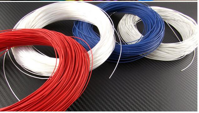 0.5mm Square Silver Plated cable Teflon OD 1.5mm DIY High purity oxygen-free copper High temperature Wire 7 Colors to select matrix silver teflon fillet 79144