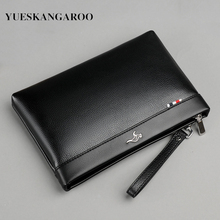 Luxury Brand Business Men Wallet Leather Man Clutch Bag Coins Pocket Purse Casual Envelope Long Wallets Male Handy For IPAD