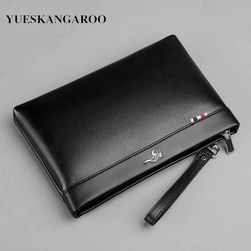 Luxury Brand Business Men Wallet Leather Man Clutch Bag Coins Pocket Purse Casual Envelope Long Wallets Male Handy Bag For IPAD