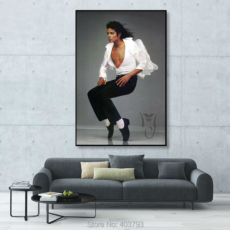 canvas art hd print abstract modern painting no framed michael jackson king of pop music star 24 x 36 inch