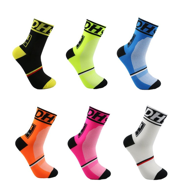 DH Sports New Cycling Socks Top Quality Professional Brand Sport Socks Breathable Bicycle Sock Outdoor Racing