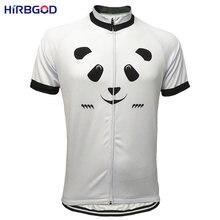 5377e7b80 HIRBGOD 2017 Cartoon Panda Men Cycling Jersey Summer Short Sleeve Bicycle  Clothing White Cycling Wear Men MTB Bike Clothes