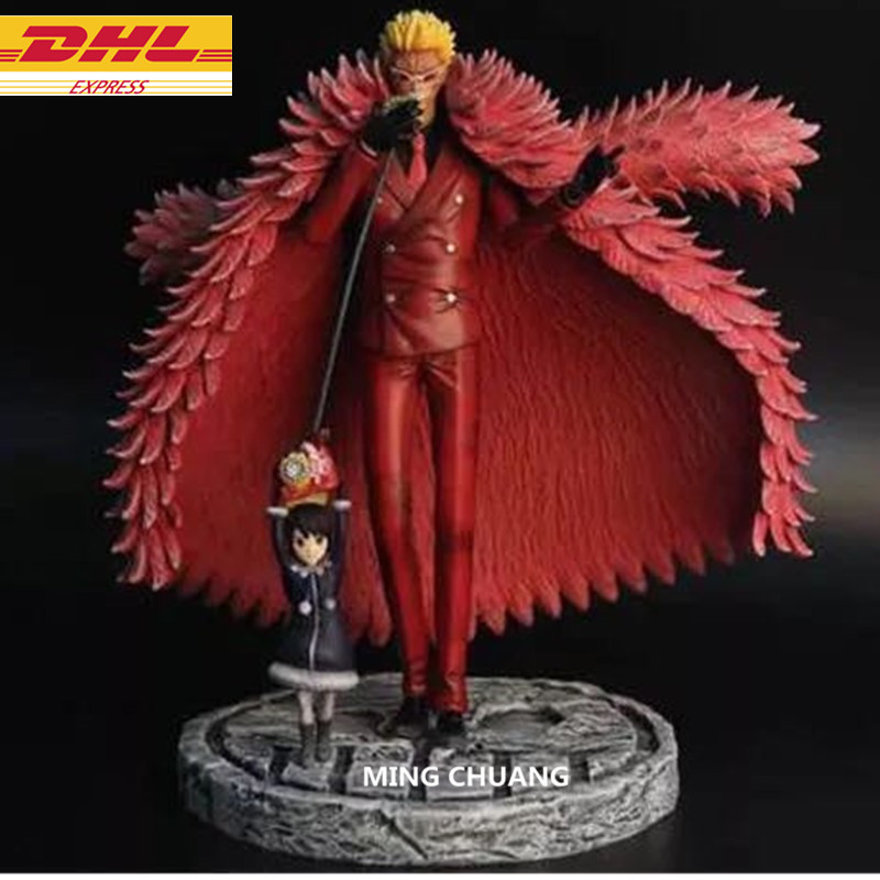 цена на 10 ONE PIECE Statue Seven Warlords Of The Sea Bust Donquixote Doflamingo Full-Length Portrait GK Action Figure Toy BOX D642