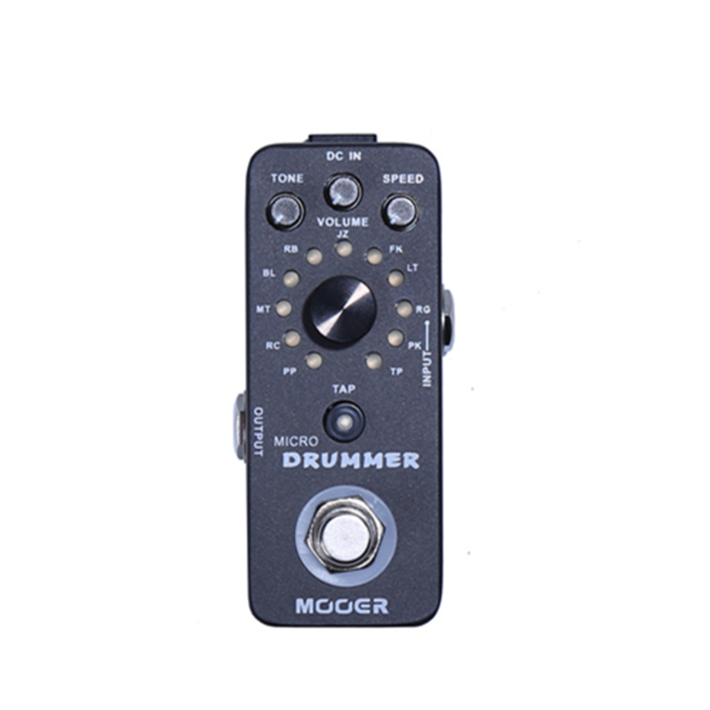 Mooer Micro Drummer Guitar Effect Pedal Micro Mini Digital Drum Machine Effect Pedal Full metal shell True bypass MDM1 new effect guitar pedal mooer blue faze pedal full metal shell true bypass