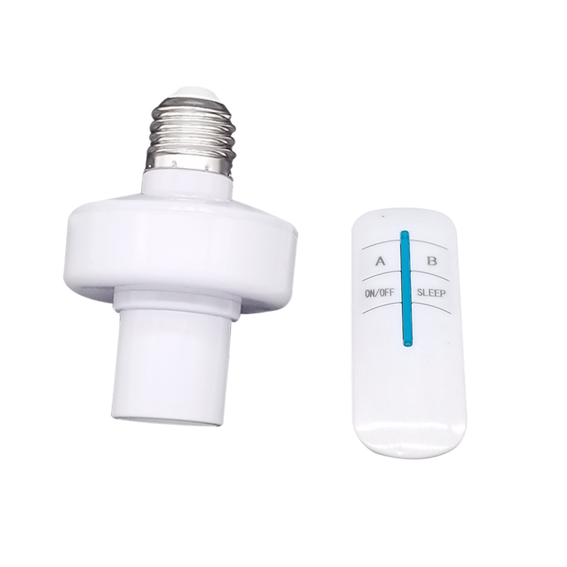 220V Remote Control Switchs Wireless RF E27 Screw Light Base ON/Off Timer Switch Socket For LED Lamp Bulb Smart Home