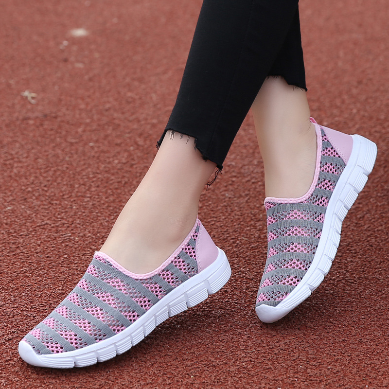 2019 Summer Pink Shoes Woman Breathable Mesh Sneakers Women Ballet Flat Ladies Slip on Flats Female Loafers Zapatos De Mujer2019 Summer Pink Shoes Woman Breathable Mesh Sneakers Women Ballet Flat Ladies Slip on Flats Female Loafers Zapatos De Mujer
