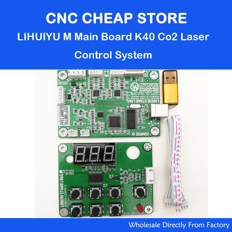 LIHUIYU M2 Nano Laser Controller Mother Main Board + Control Panel + Dongle B System Engraver Cutter DIY 3020 3040 K40