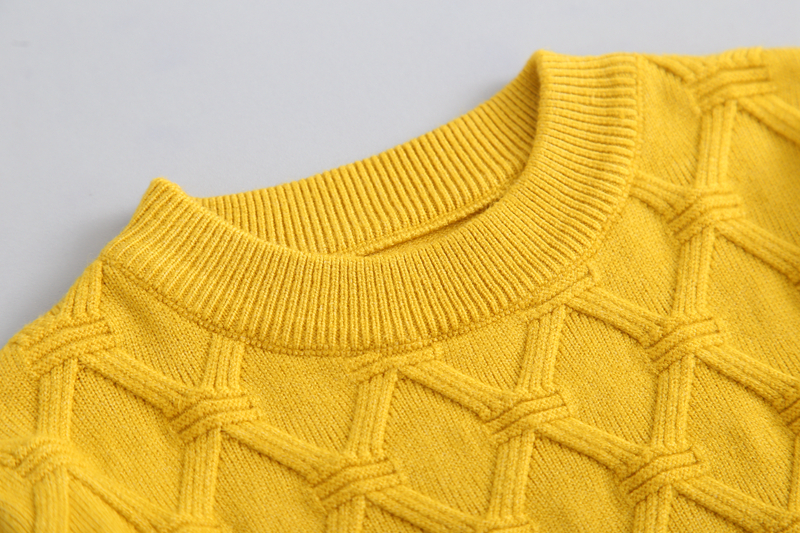2-7T New Clothing Baby Boy Girl Knitted Sweater Autumn Baby Kids Clothing Wear Sweaters Baby Winter Pullover Solid Color
