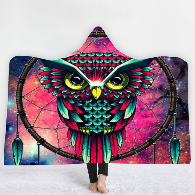 3D Print Owl Feather Hooded Blanket 1