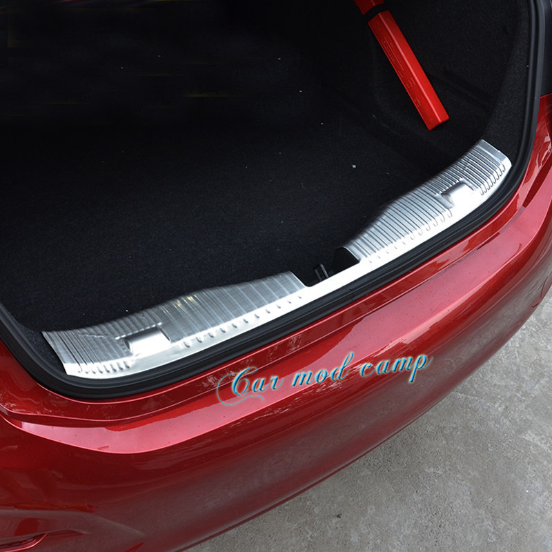 For Chevrolet Cruze 2017 Sedan Stainless Steel Inner Rear Bumper Protector Guard Plate Trim 1pcs Car Styling Accessories! aosrrun after the stainless steel backboard of the guard board the rear guard plate car accessories for acura cdx 2016 2017