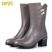 Plus size 35 43 female winter boots 2017 genuine leather women s boots wool cotton shoes