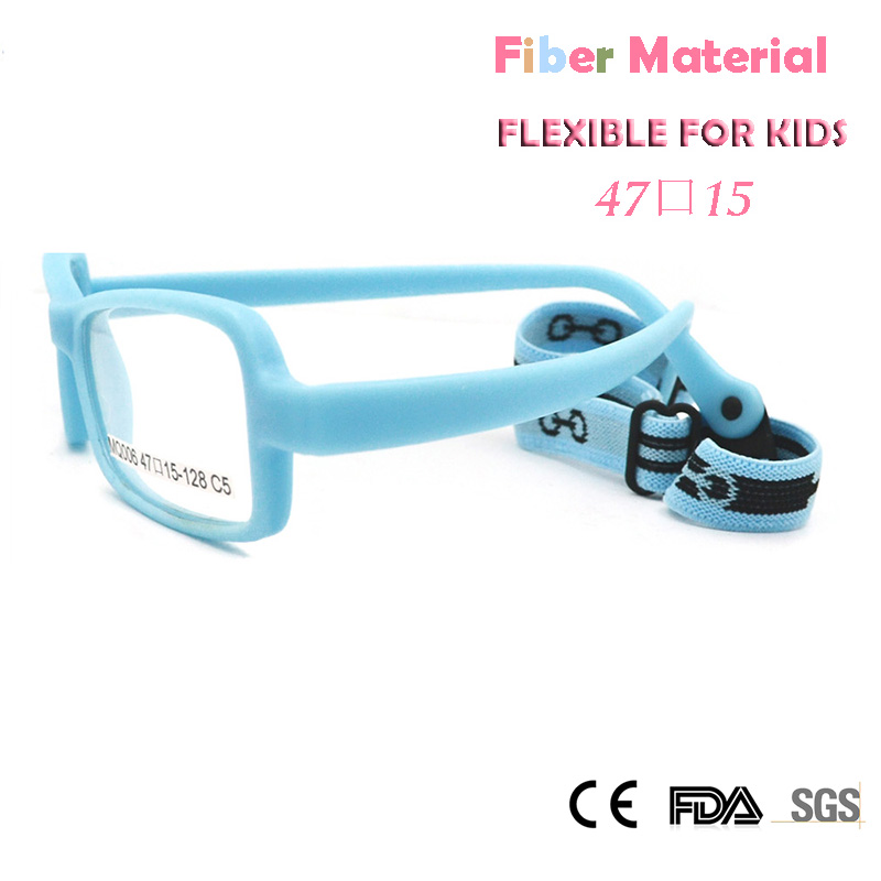 Childens Optical Glasses Frame Boys Flexible Kids Glasses With Strap Fiber Screwless Eyewear Oval Unbreakable 10pcs Apparel Accessories