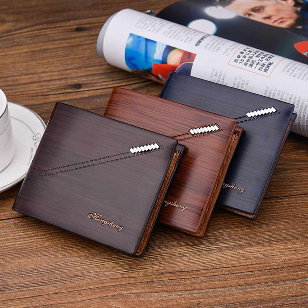 Hombres cuero cartera RFID bloqueo Cartera de titular de la tarjeta monedero con bolsillo de la moneda hombre bolso de embrague portefeuille homme