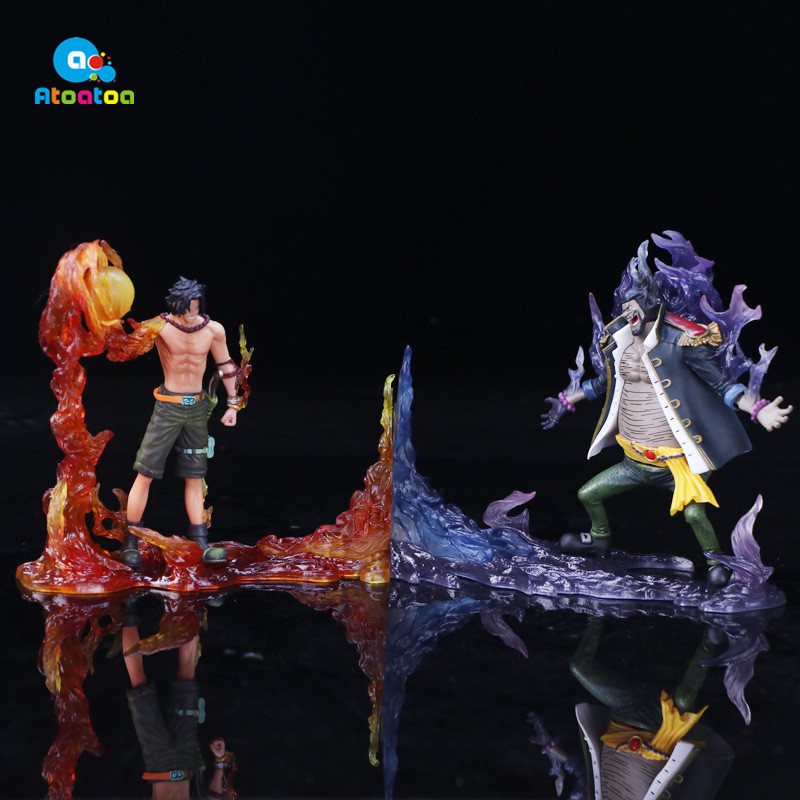 2Pcs/Set 15CM Anime One Piece DXF The Rival Portgas D Ace VS Marshall D Teach Action Figure Collectible Model Toys Gifts