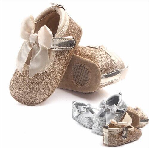 Newborn Baby Girls Boy Soft Sole Bling Princess First Walkers Shoes Mocassins Toddler Infantil Leather Anti-Slip Shoes Prewalker