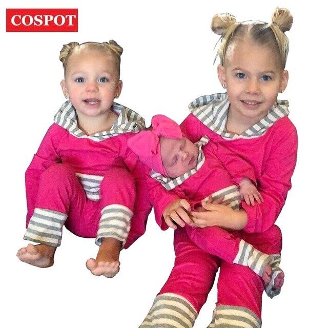 84d96492211 COSPOT Baby Girls Harem Romper Girl Spring Autumn Hooded Jumpsuit Girl s  Fashion Tank Jumper Toddler Hooded Pajamas 2019 New 30