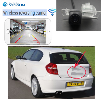 wireless car reversing camera for BMW 1 E81 E87 E87N 2007~2012 Car wireless backup camera CCD night vision waterproof