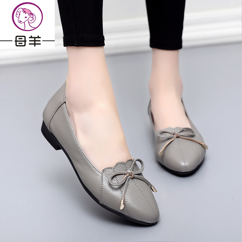MUYANG Plus Größe 35-43 Echtes Leder Frauen Schuhe Frau Wohnungen - Damenschuhe - Foto 5