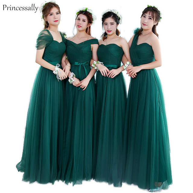 Vestidos verde esmeralda para damas