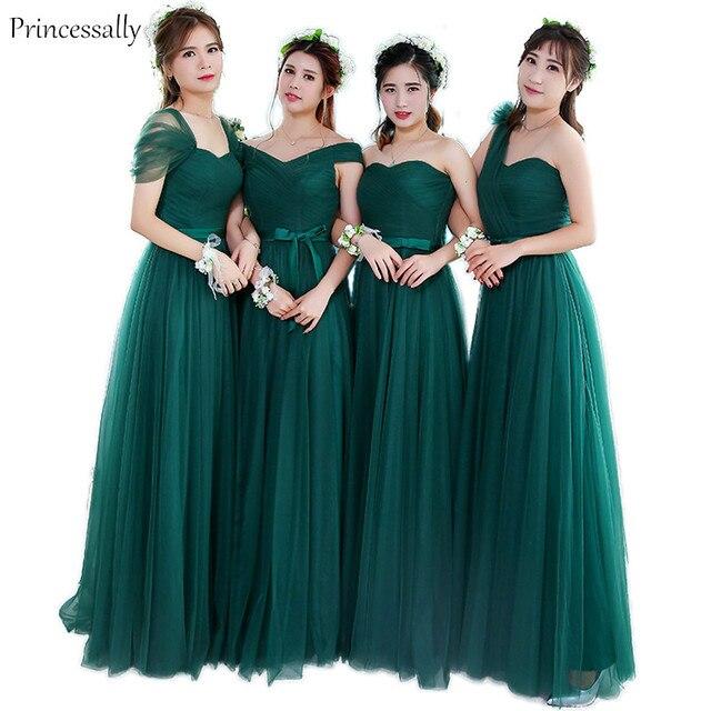Robe De Soriee Verde Smeraldo Damigella D onore Elegante Sposa Partito  sposato Abito A Buon cbeff0abc1f