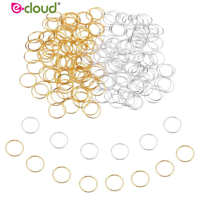 100pcs/lot Hair Braid Rings Accessories Clips for Women and Girls Dreadlocks Beads Set Color Gold and Sliver