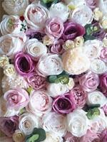 SPR Бесплатная доставка 10 шт./лот 3D искусственная Роза Пион и стена из гортензий свадебный фон Искусственные цветы композиции