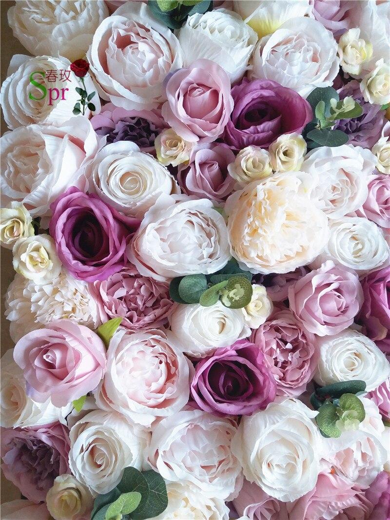 SPR livraison gratuite 10 pcs/lot 3D artificielle rose pivoine & hortensia fleur mur mariage toile de fond artificielle arrangements de fleurs