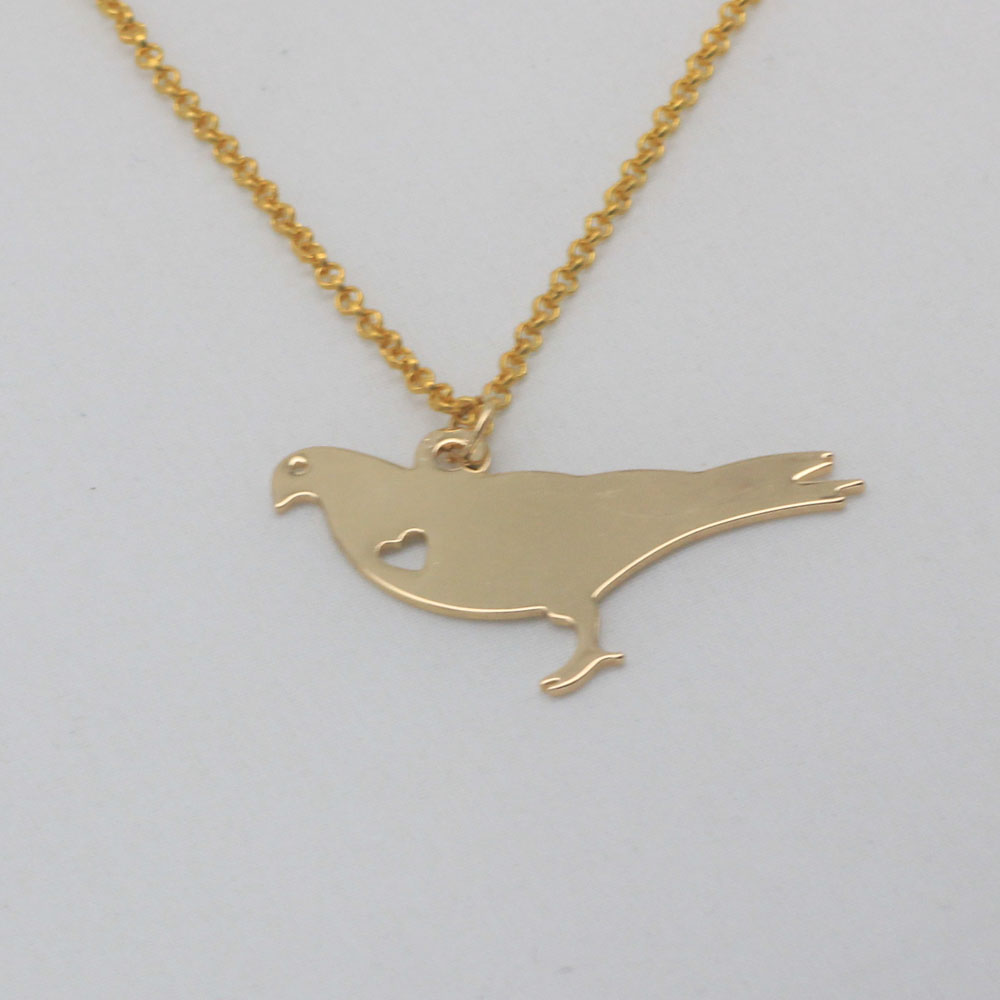Cute Pigeon Charm Necklace Popular Copper Unisex Jewelry Any Words Can Be Customed Accept Drop Shipping YP0091