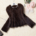 High quality Hot Sale Retail/wholesale Mink Fur Coat Women Knitted Mink Fur Overcoat Jackets/ Sweater Free Shipping BF-C0091