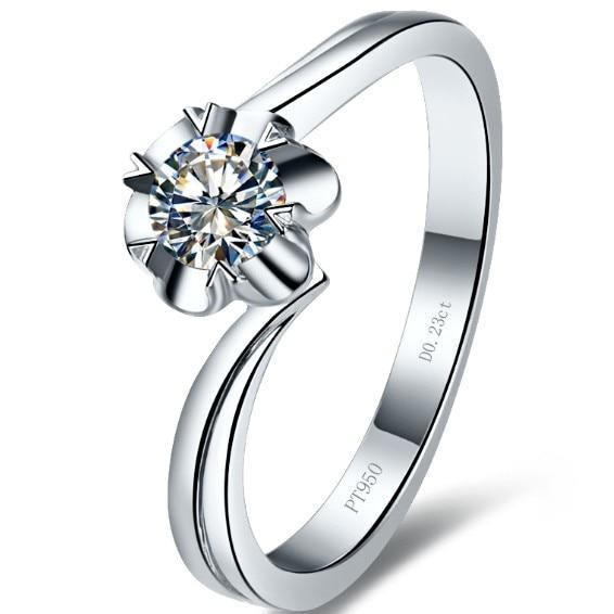 Solitaire Diamond Rings Designs | Aliexpress Com Buy Simple 0 25ct Flower Stape Female Female Ring