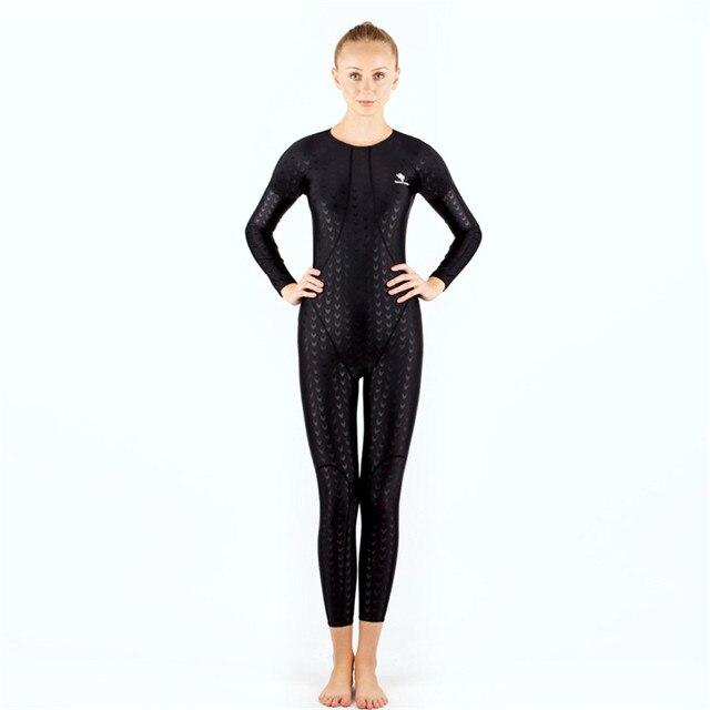 842364f6b7 HXBY Long Sleeve Swimwear Women One Piece Swimsuit Swimming Suit For Women  Swim Wear Full Body Swim Suit Women s Swimsuits