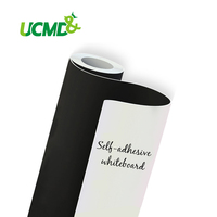 Wall Decor Sticker Flexible Dry Erase Magnetic Whiteboard Drawing Board Fridge Stickers With Adhesive 80 Cm