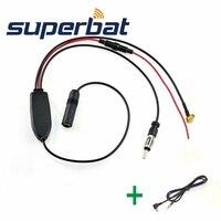 Superbat DAB Car Radio Antenna FM AM To DAB FM AM Aerial Converter Splitter With 2