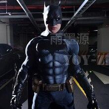 YOY ZENTAI yüksek kaliteli kas dolgu Batman kostüm Logo ile yeni Batman Cosplay kostüm kas Batman Bodysuit